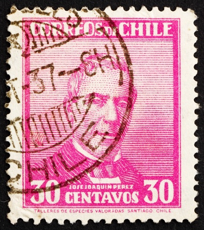 CHILE - CIRCA 1934: a stamp printed in the Chile shows Jose Joaquin Perez Mascayano, President of Chile, 1861 - 1871, circa 1934 Stock Photo - 14819767