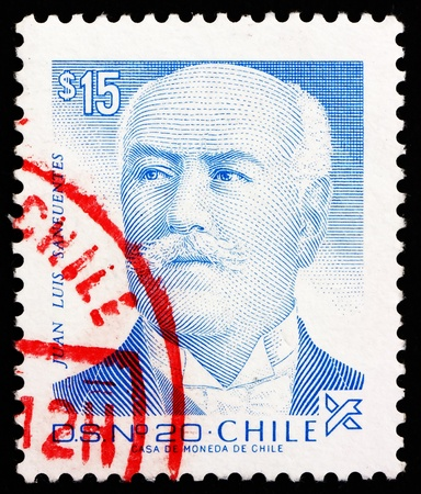 CHILE - CIRCA 1987: a stamp printed in the Chile shows Juan Luis Sanfuentes Andonaegui, President of Chile, 1915 – 1920, circa 1987 Stock Photo - 14819764