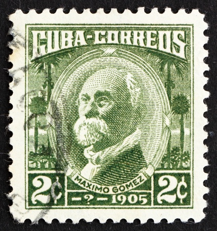 maximo: CUBA - CIRCA 1969: a stamp printed in the Cuba shows Maximo Gomez, General, circa 1969