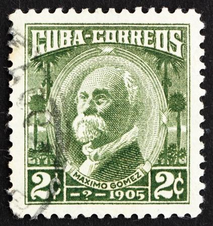 gomez: CUBA - CIRCA 1969: a stamp printed in the Cuba shows Maximo Gomez, General, circa 1969