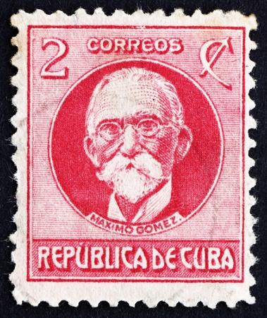 gomez: CUBA - CIRCA 1917: a stamp printed in the Cuba shows Maximo Gomez, General, circa 1917