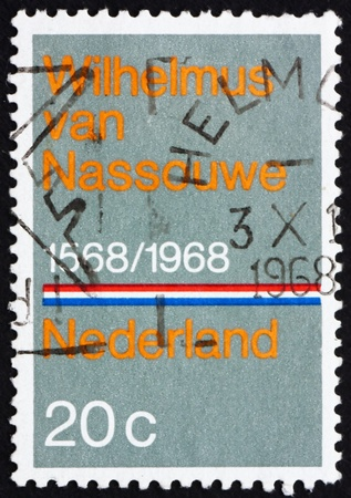 anthem: NETHERLANDS - CIRCA 1968: a stamp printed in the Netherlands shows National Anthem, 40th Anniversary of the National Anthem Wilhelmus van Nassouwe, circa 1968