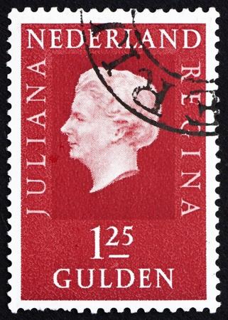 juliana: NETHERLANDS - CIRCA 1969: a stamp printed in the Netherlands shows Queen Juliana, circa 1969