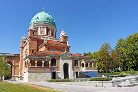 Church of Christ the King with Resting Place of the First Croatian President dr. Franjo Tu�man on the Right Side, Mirogoj cemetery Zagreb, Croatia
