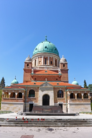 Church of Christ the King with Resting Place of the First Croatian President dr. Franjo Tuman, Mirogoj cemetery Zagreb, Croatia