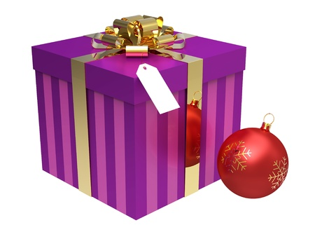 Gift box and Christmas Ball photo