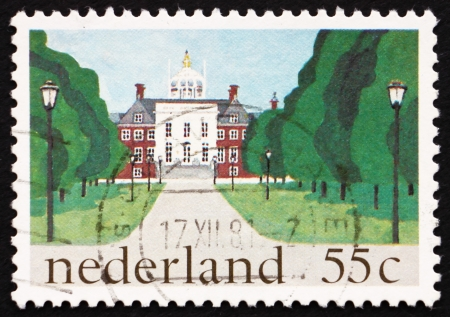 NETHERLANDS - CIRCA 1981: a stamp printed in the Netherlands shows Huis ten Bosch, Royal Palace, The Hague, circa 1981 Stock Photo - 15486385