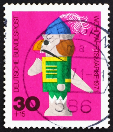 GERMANY - CIRCA 1971: a stamp printed in the Germany shows Nutcracker, Wooden Toy, circa 1971 Stock Photo - 15619650
