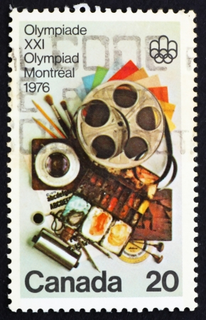 CANADA - CIRCA 1976: a stamp printed in the Canada shows Communication Arts, Olympic Fine Arts and Cultural Program, Montreal 1976, circa 1976 Stock Photo - 15876672