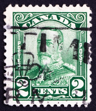 CANADA - CIRCA 1928 a stamp printed in the Canada shows King George V, King of England, circa 1928