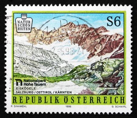 hohe tauern: AUSTRIA - CIRCA 1996: a stamp printed in the Austria shows Hohe Tauern National Park, Scenery, circa 1996