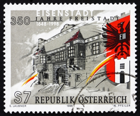 AUSTRIA - CIRCA 1998: a stamp printed in the Austria shows City of Eisenstadt, 350th Anniversary, circa 1998 Stock Photo - 15986379