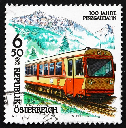 AUSTRIA - CIRCA 1998: a stamp printed in the Austria shows Pinzgau Railway, Anniversary, circa 1998