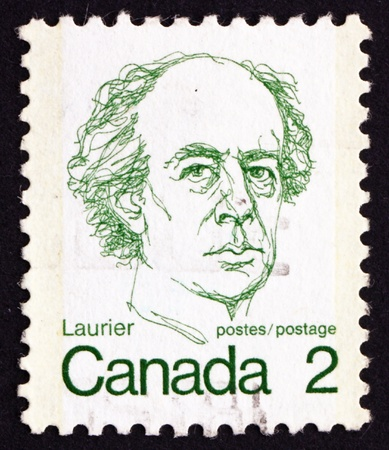 CANADA - CIRCA 1973: a stamp printed in the Canada shows Sir Wilfrid Laurier, circa 1973 Stock Photo - 16093767