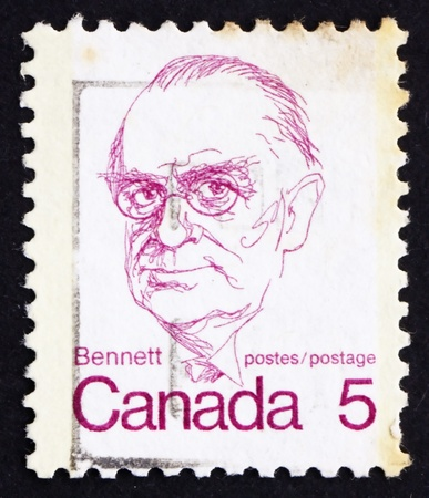 CANADA - CIRCA 1973: a stamp printed in the Canada shows Richard Bedford Bennett, circa 1973 Stock Photo - 16093766