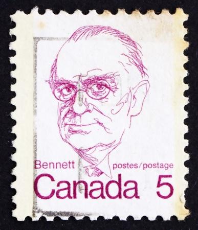 bennett: CANADA - CIRCA 1973: a stamp printed in the Canada shows Richard Bedford Bennett, circa 1973