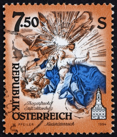 AUSTRIA - CIRCA 1994: a stamp printed in the Austria shows Cupola Fresco, by Paul Troger, Monastery of Altenburg, Niederosterreich, circa 1994 Stock Photo - 16205909