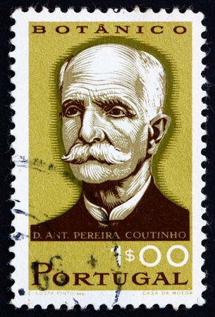 PORTUGAL - CIRCA 1966: a stamp printed in the Portugal shows Antonio Pereira Coutinho, Botanist, Professor, circa 1966 Stock Photo - 16223494