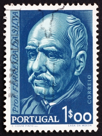 PORTUGAL - CIRCA 1956: a stamp printed in the Portugal shows Prof. Antonio Joaquim Ferreira da Silva, Chemist, Centenary of the Birth, circa 1956