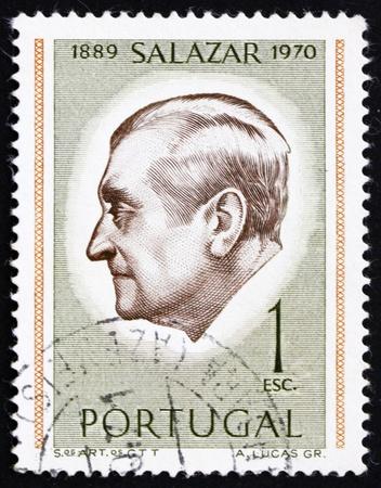 PORTUGAL - CIRCA 1971: a stamp printed in the Portugal shows Antonio Salazar, President, circa 1971 Stock Photo - 16224737
