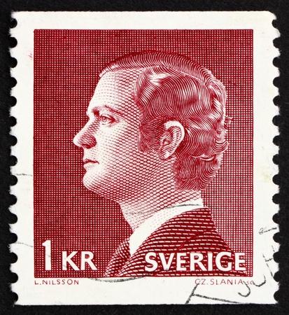 king carl xvi gustaf: SWEDEN - CIRCA 1974: a stamp printed in the Sweden shows Carl XVI Gustaf, King of Sweden, circa 1974