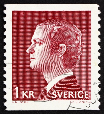 SWEDEN - CIRCA 1974: a stamp printed in the Sweden shows Carl XVI Gustaf, King of Sweden, circa 1974