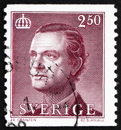 king carl xvi gustaf: SWEDEN - CIRCA 1990: a stamp printed in the Sweden shows Carl XVI Gustaf, King of Sweden, circa 1990
