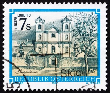 AUSTRIA - CIRCA 1987: a stamp printed in the Austria shows Loretto Monastery, Burgenland, circa 1987 Stock Photo - 16224781