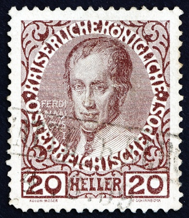 AUSTRIA - CIRCA 1913: a stamp printed in the Austria shows Ferdinand I, Emperor of Austria, circa 1913 Stock Photo - 16224814