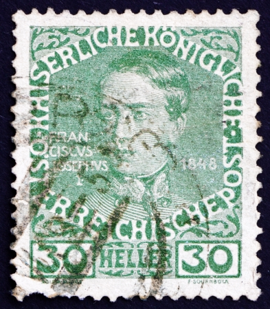AUSTRIA - CIRCA 1913: a stamp printed in the Austria shows Franz Josef as Youth, Emperor of Austria, circa 1913 Stock Photo - 16224807