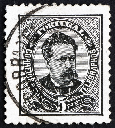 PORTUGAL - CIRCA 1883: a stamp printed in the Portugal shows King Luiz, King of Portugal, circa 1883