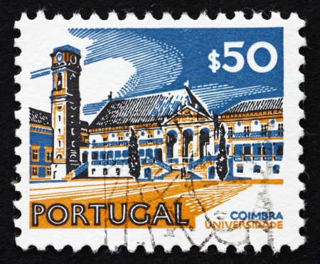 PORTUGAL - CIRCA 1972: a stamp printed in the Portugal shows University, Coimbra, circa 1972 Stock Photo - 16284606