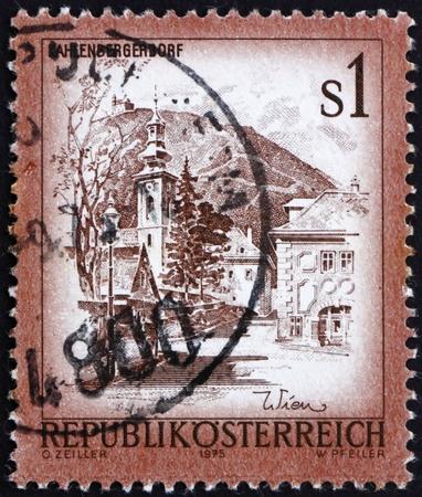 AUSTRIA - CIRCA 1975: a stamp printed in the Austria shows Kahlenbergerdorf, Vienna, circa 1975 Stock Photo - 16285726