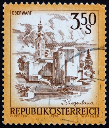 AUSTRIA - CIRCA 1978: a stamp printed in the Austria shows Easter Church, Oberwart, circa 1978 Stock Photo - 16285723