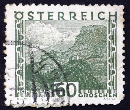 AUSTRIA - CIRCA 1929: a stamp printed in the Austria shows Hohenems, circa 1929 Stock Photo - 16286346
