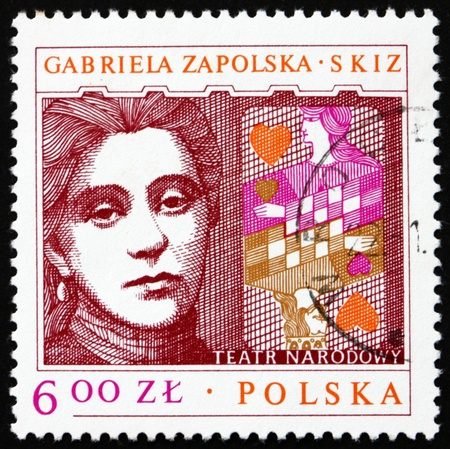 dramatist: POLAND - CIRCA 1978: a stamp printed in the Poland shows Gabriela Zapolska, Polish Dramatist, circa 1978