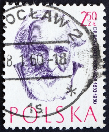 POLAND - CIRCA 1957: a stamp printed in the Poland shows Dr. Benedykt Dybowski, Physician, Doctor, circa 1957 Stock Photo - 16286587