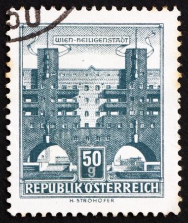 AUSTRIA - CIRCA 1959: a stamp printed in the Austria shows Heiligenstadt, Vienna, circa 1959 Stock Photo - 16286571