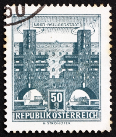 AUSTRIA - CIRCA 1959: a stamp printed in the Austria shows Heiligenstadt, Vienna, circa 1959 Stock Photo - 16286571