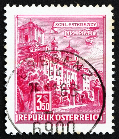 AUSTRIA - CIRCA 1962: a stamp printed in the Austria shows Esterhazy Palace, Eisenstadt, circa 1962 Stock Photo - 16286611