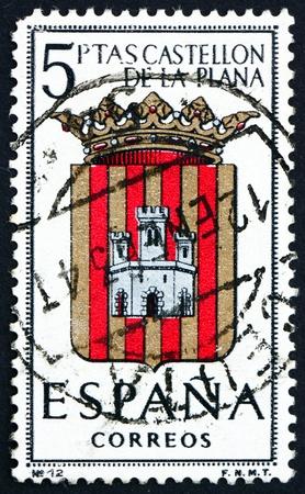 SPAIN - CIRCA 1962: a stamp printed in the Spain shows Arms of Castellon de la Plana, Provincial Arms, circa 1962 Stock Photo - 16337345