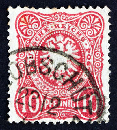 GERMANY - CIRCA 1875: a stamp printed in the Germany shows Coat of Arms of Germany, circa 1875 Stock Photo - 16870115