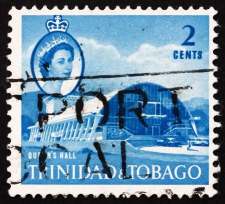 TRINIDAD AND TOBAGO - CIRCA 1960: a stamp printed in Trinidad and Tobago shows Queen's Hall, Port of Spain, circa 1960 Stock Photo - 16979291