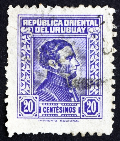 artigas: URUGUAY - CIRCA 1944: a stamp printed in the Uruguay shows Jose Gervasio Artigas Arnal National Hero of Uruguay, General and Patriot, circa 1944