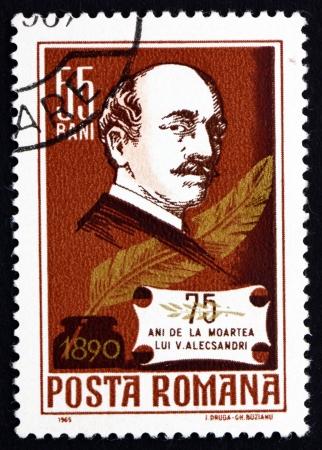 statesman: ROMANIA - CIRCA 1931: a stamp printed in the Romania shows Vasile Alecsandri, Statesman and Poet, circa 1931