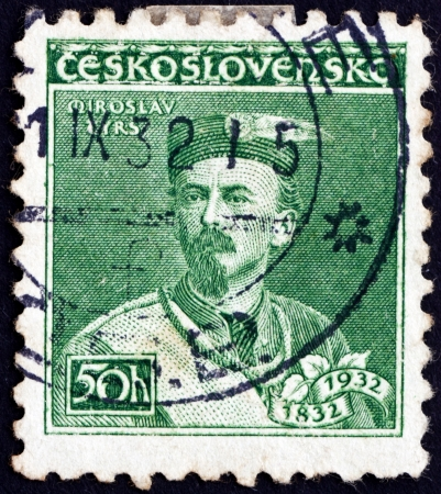 CZECHOSLOVAKIA - CIRCA 1932: a stamp printed in the Czechoslovakia shows Miroslav Tyrs, Founder of the Sokol Movement, circa 1932