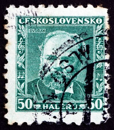 CZECHOSLOVAKIA - CIRCA 1934: a stamp printed in the Czechoslovakia shows Antonin Dvorak, Czech Composer, circa 1934 Stock Photo - 17464870