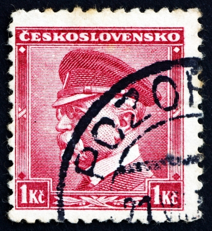 sociologist: CZECHOSLOVAKIA - CIRCA 1937: a stamp printed in the Czechoslovakia shows Tomas Garrigue Masaryk, Politician, Sociologist and Philosopher, first President of Czechoslovakia, circa 1937
