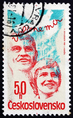CZECHOSLOVAKIA - CIRCA 1981: a stamp printed in the Czechoslovakia shows National Assembly Elections, circa 1981 Stock Photo - 17523417
