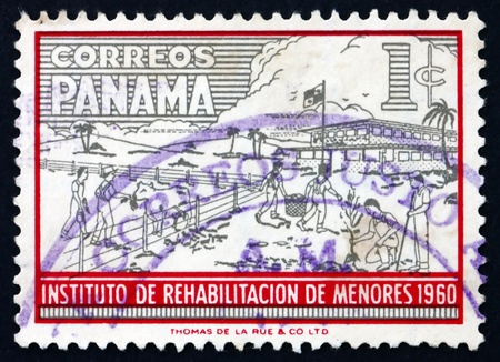 PANAMA - CIRCA 1960: a stamp printed in the Panama shows Boys Doing Farm Work, Youth Rehabilitation Institute, circa 1960